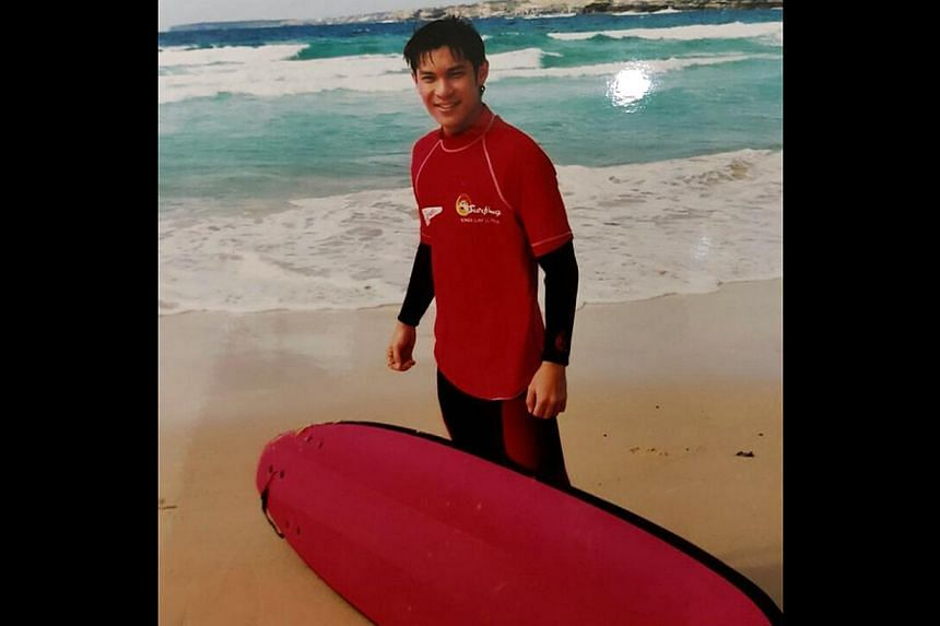 Chen at Bondi Beach, Sydney, for the filming of City Beat in 2002. -- PHOTO: COURTESY OF SHAUN CHEN