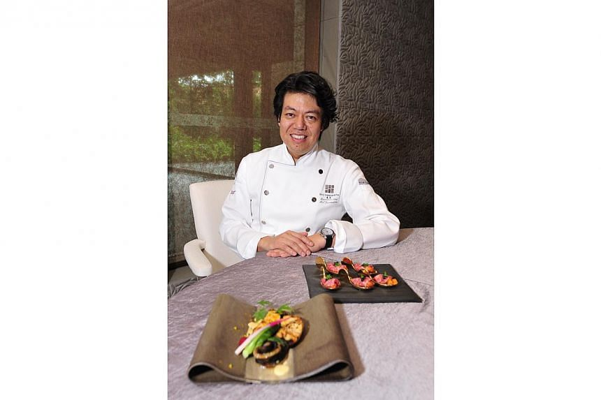 Japanese chef Hal Yamashita's Syun, in Resorts World Sentosa, won a Best New Restaurant award in the Asian category at The Peak's annual G Restaurant Awards 2015. -- PHOTO: DIOS VINCOY JR FOR THE STRAITS TIMES