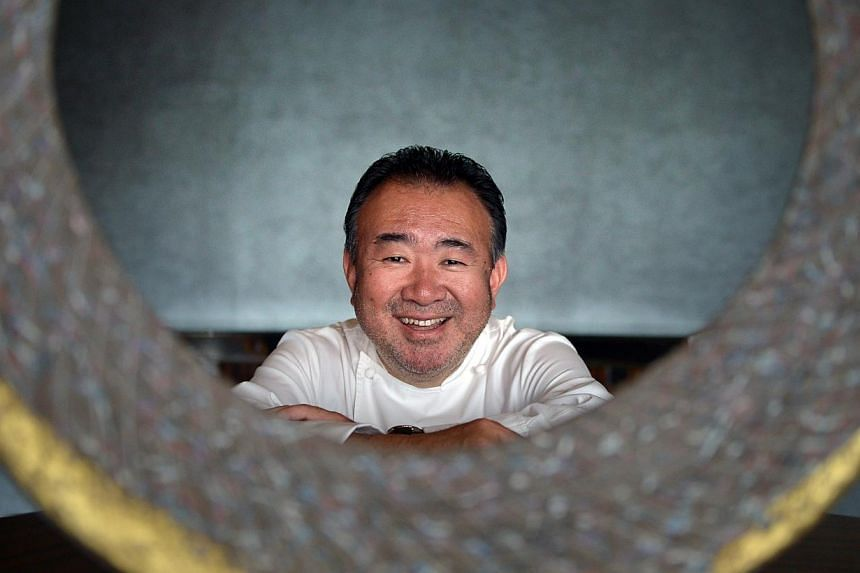 Tetsuya Wakuda, celebrated Japanese-born Sydney-based chef who is behind Waku Ghin at MBS and eponymous restaurant Tetsuya's in Sydney's Kent Street. Photographed on March 11, 2015. -- ST PHOTO:ALPHONSUS CHERN