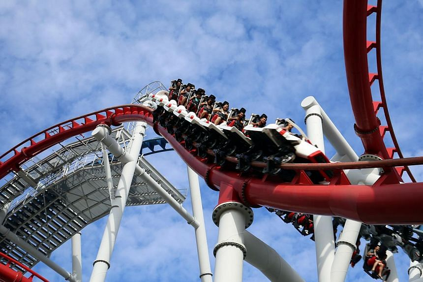 The Battlestar Galactica in Universal Studios Singapore, Resorts World Sentosa, will reopen on May 27. Its previous four-seater vehicles have been replaced by two-seater vehicles. -- PHOTO: RESORTS WORLD SENTOSA