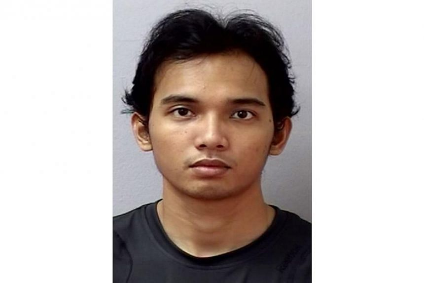 Irfan Syanjaya, 26, was convicted on Tuesday of outraging a woman's modesty on an MRT train. -- PHOTO: SINGAPORE POLICE FORCE