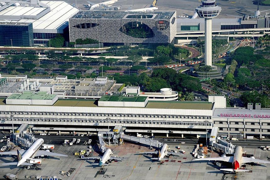 The growth in Singapore-Australia air links with more flights, cities and seats has made Changi Airport a prime choice for travellers heading Down Under. -- PHOTO: ST FILE