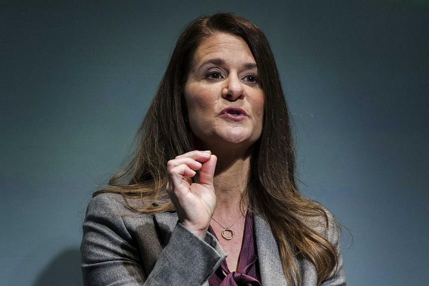 Melinda Gates speaking during the unveiling of No Ceilings and the Not There Yet: A Data Driven Analysis of Gender Equality study in New York on March 9, 2015. -- PHOTO: REUTERS