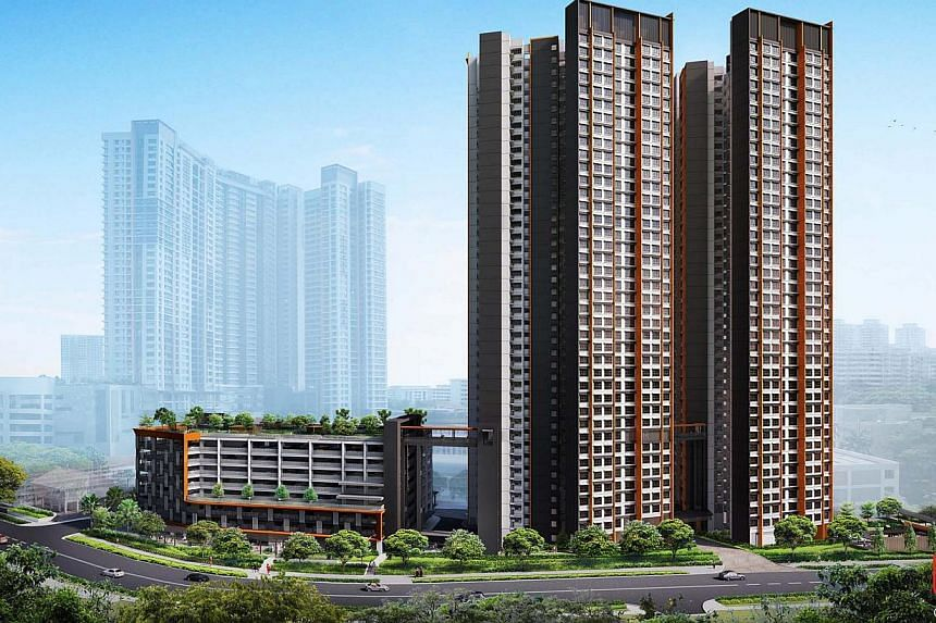 An artist's impression of Clementi Crest. More than 9,000 new Housing Board flats were launched on Wednesday, as part of this month's Build-to-Order (BTO) and Sale of Balance Flats exercise - the largest joint exercise so far. -- PHOTO: HDB