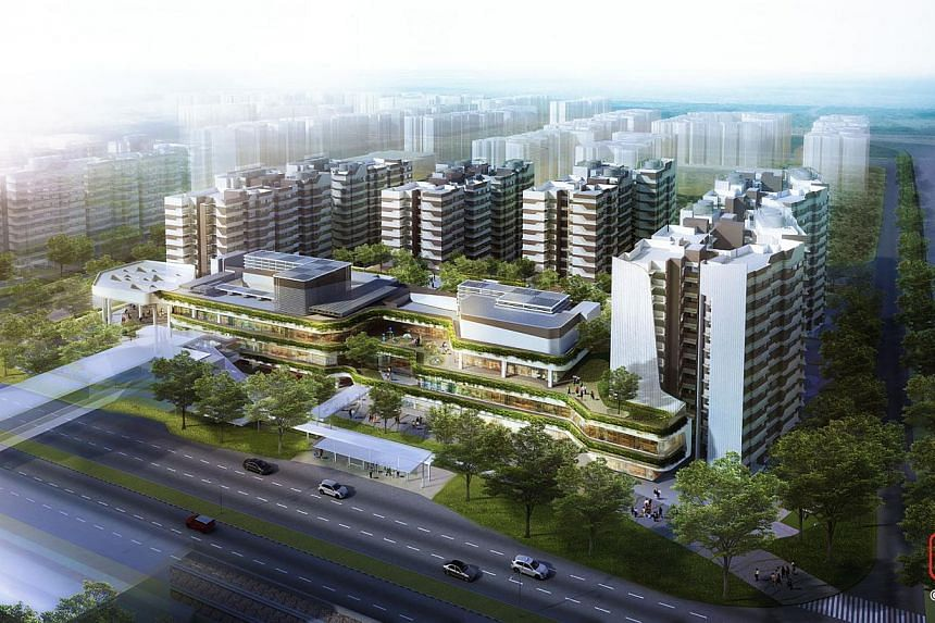 An artist's impression of Eastlink I and Eastlink II in Canberra, Sembawang. -- PHOTO: HDB