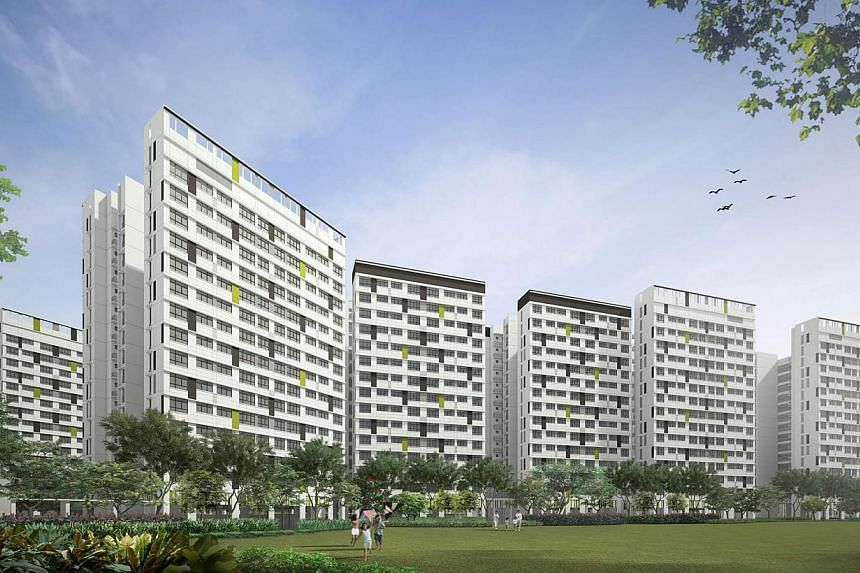 An artist's impression of Tampines GreenWeave. -- PHOTO: HDB
