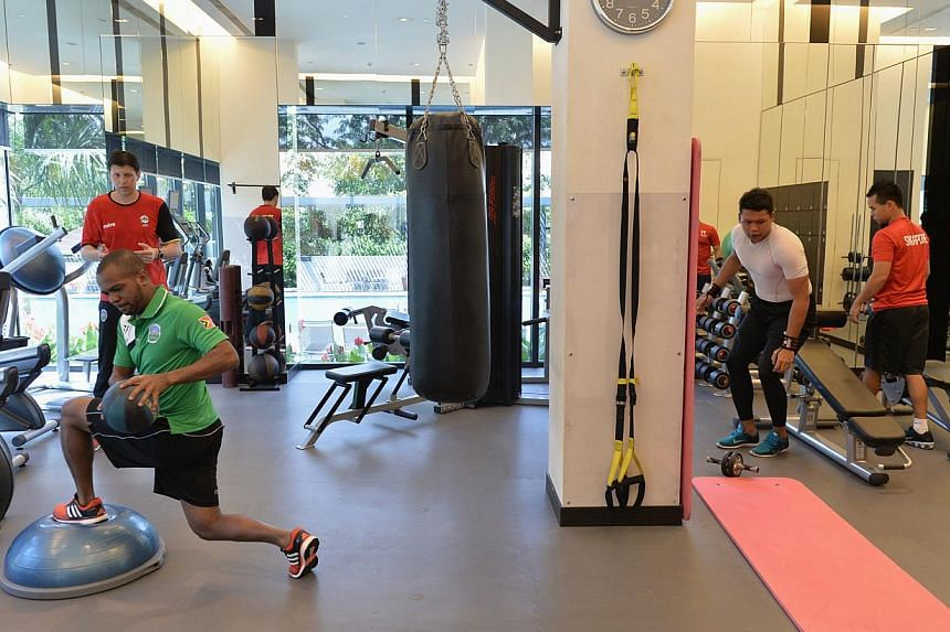 The gym at Ramada Singapore at Zhongshan Park can be accessed by both SEA Games athletes who will be staying there and other hotel guests. -- ST PHOTO: CAROLINE CHIA