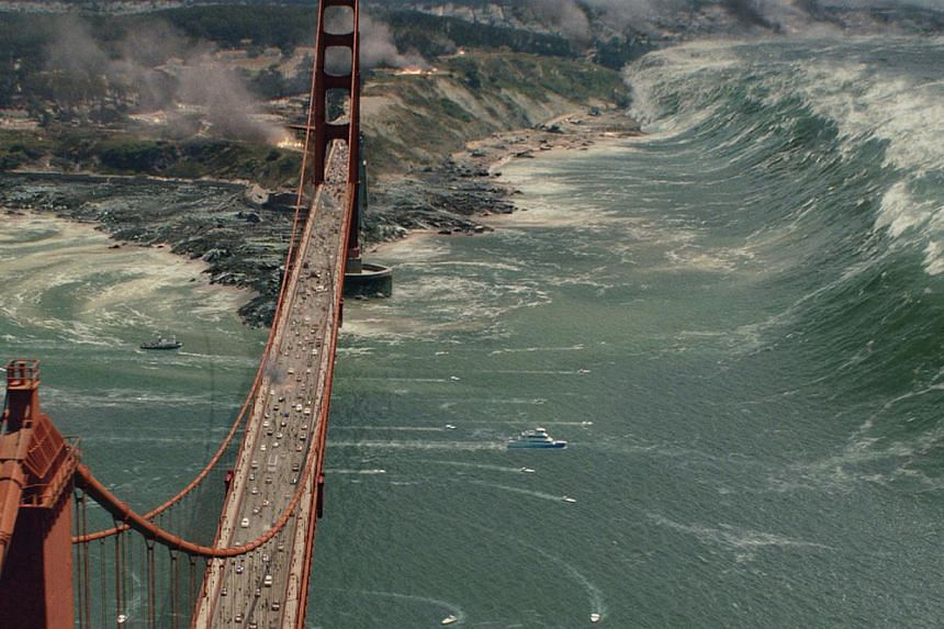 The latest summer blockbuster San Andreas (above) carries on the tradition of disaster movies such as Independence Day (1996) in destroying instantly recognisable landmarks. -- PHOTOS: GOLDEN VILLAGE, 20TH CENTURY FOX