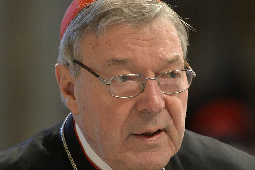 This file photograph taken on April 2, 2015 shows Australian Cardinal George Pell, Prefect of the Secretariat for the Economy of the Holy See arriving to attend mass for Holy Thursday which marks the start of Easter celebrations at St Peter's basilic