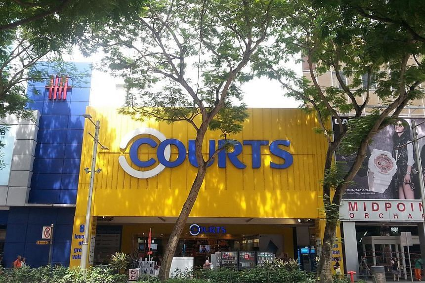 Courts Asia reported a fourth quarter net profit of $6.6 million, down 16.4 per cent year-on-year, as sales were flat in core markets amid difficult operating environment for retailers. -- PHOTO:KNIGHT FRANK