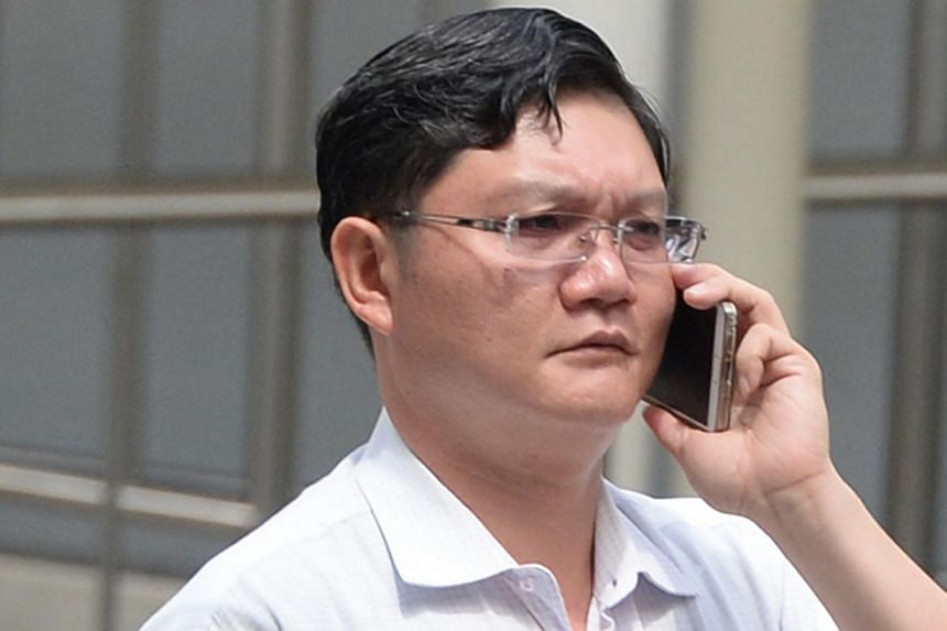 Low Teow Guan was jailed for 12 weeks on Wednesday in relation to a long-running online vice ring scandal involving an underage girl. -- ST PHOTO:AZIZ HUSSIN