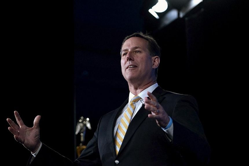 Former US senator Rick Santorum speaks at the Southern Republican Leadership Conference in Oklahoma City, Oklahoma May 21, 2015. Mr Santorum will announce on Wednesday, May 27, his plan to make another run for the Republican presidential nomination i