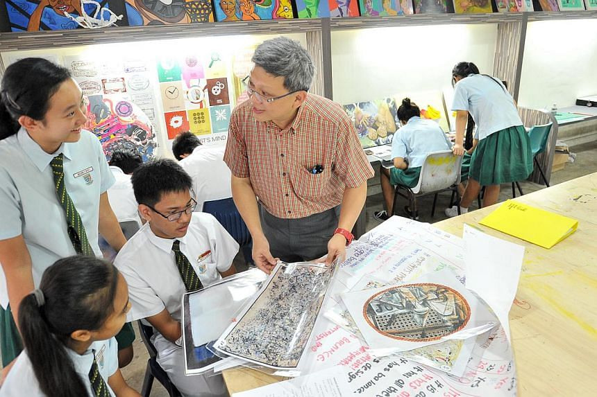 The specialised programmes for artistically and musically inclined students will be rolled out to more schools in a move to nurture diverse talents among students. -- ST PHOTO: LIM YAOHUI
