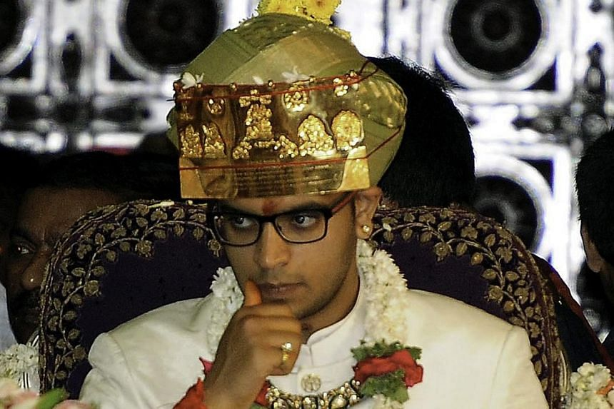 Yaduveer Krishnadatta Chamaraja Wadiyar after he was crowned the new Maharaja at Amba Vilas Palace in Mysore, India on May 28, 2015. -- PHOTO: EPA