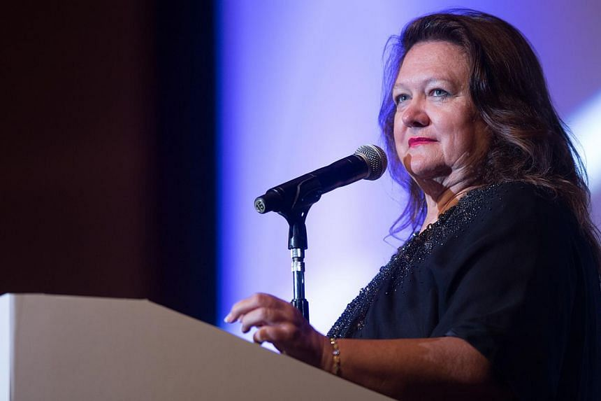Australia's richest person Gina Rinehart was on Thursday ordered by a court to relinquish control of a multi-billion-dollar family trust to her eldest daughter, culminating a long and bitter feud. -- PHOTO: BLOOMBERG