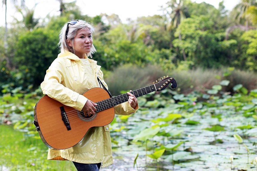 Singer- songwriter Inch Chua has been staying at a kampung on Pulau Ubin to find inspiration for her new songs.