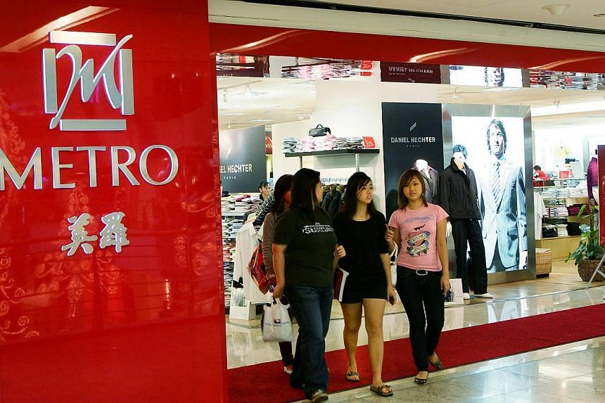 Main Board-listed Metro Holdings Limited has recorded a 33.2 per cent rise in net profit to $142.4 million for the full year ended March 2015, with a 4.8 per cent increase in revenue over the same period. -- ST PHOTO:LAU FOOK KONG