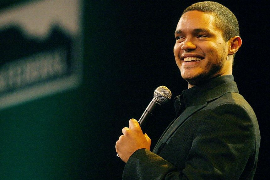 A June 17, 2008, file photo shows South Africa Stand up comedian Trevor Noah performing at the SA cricket awards held at the Sandton convention centre in Johannesburg. -- PHOTO: AFP
