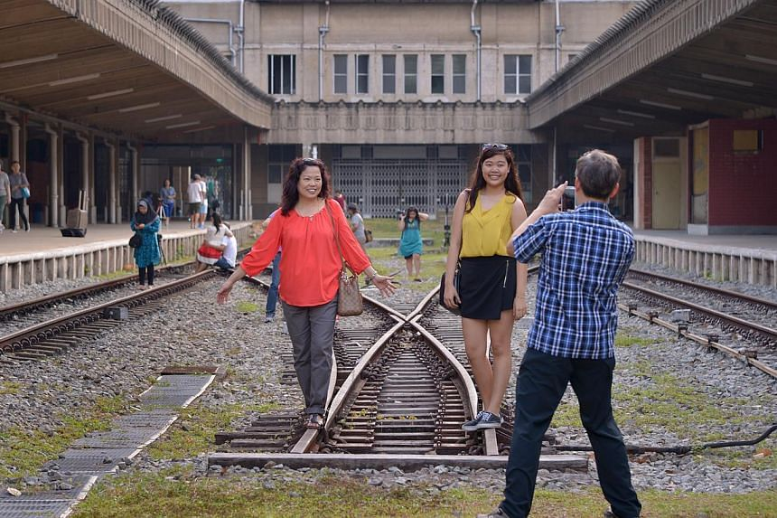 The former Tanjong Pagar Railway Station will be open to the public on Vesak Day on Monday. -- ST PHOTO:LIM SIN THAI
