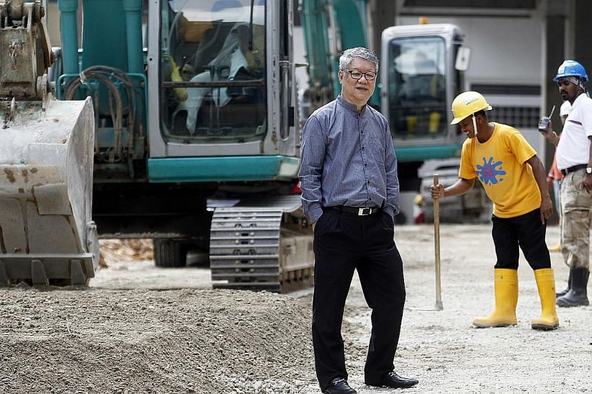Mr Choo Chee Onn, executive chairman and managing director of construction firm and developer KSH Holdings, in a photo from March 13, 2014. The firm recorded a 7 per cent decline in net profit to $41.7 million for the year to March 31. -- ST PHOTO: K