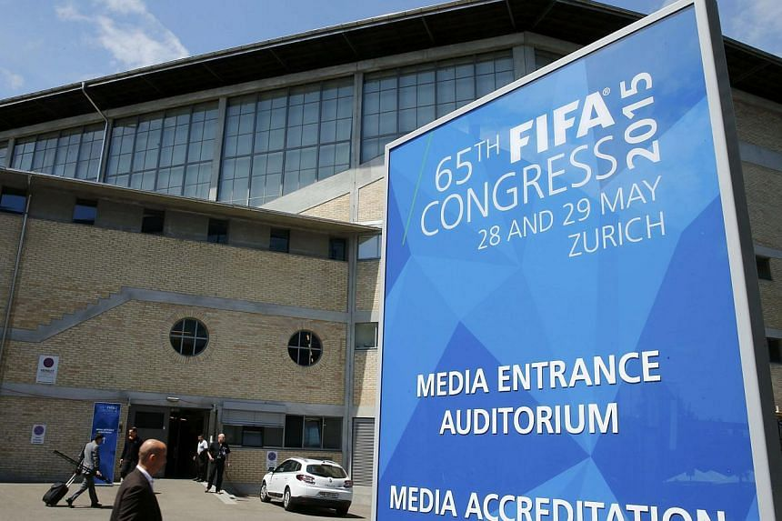Swiss police are investigating a bomb threat at the Fifa congress, a spokesman said on Friday. -- PHOTO: REUTERS
