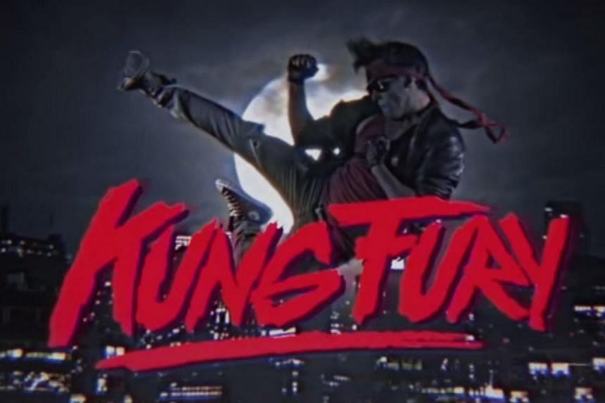 The Swedish short action movie Kung Fury,which was funded through global crowdfunding platform Kickstarter, has been released on the Internet, according to The Hollywood Reporter. -- PHOTO: SCREEN GRAB FROM KICK FURY