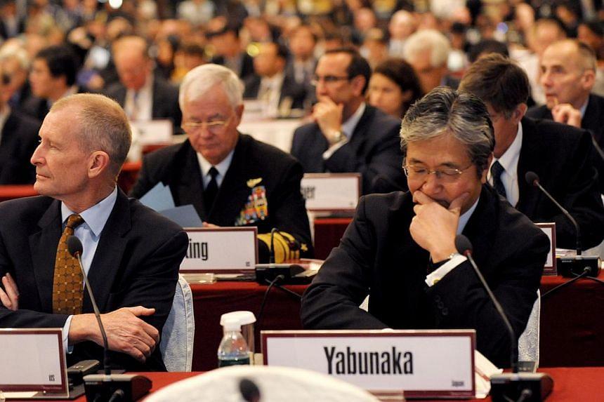 Participants at the eighth Shangri-La Dialogue. -- ST PHOTO: LIM SIN THAI