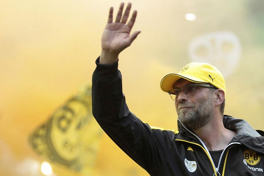 Borussia Dortmund coach Juergen Klopp arrives prior to their German Cup final football match against VfL Wolfsburg in Berlin, Germany, on May 30, 2015. -- PHOTO: REUTERS