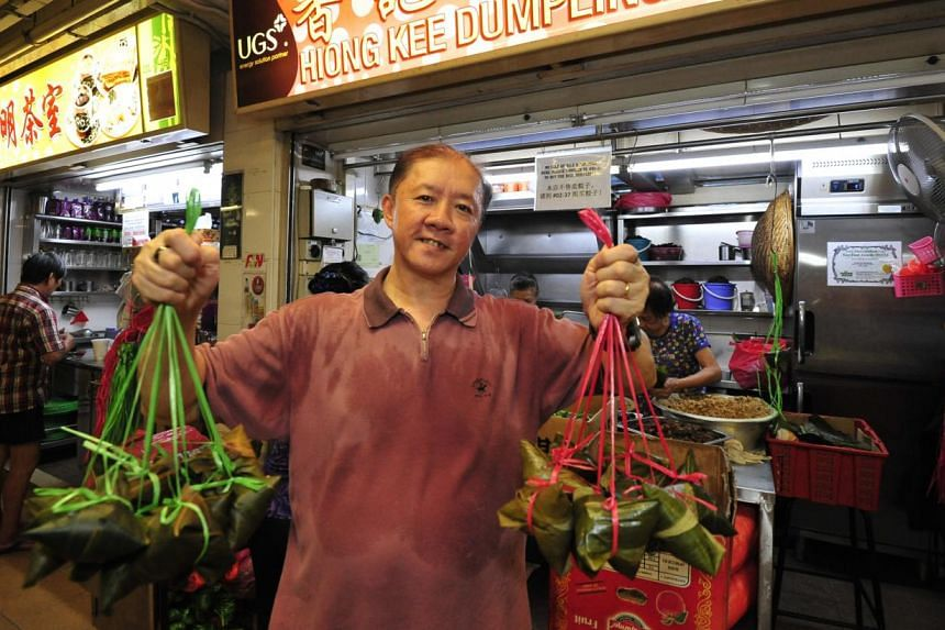 Hiong Kee Dumpling's Mr Richard Lim learnt all he needed to learn about making dumplings from his mother. -- PHOTO: DIOS VINCOY JR FOR THE STRAITS TIMES