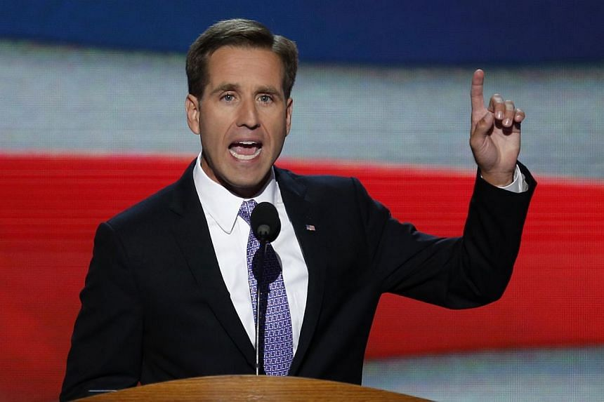 Delaware Attorney General Beau Biden, son of US Vice President Joe Biden, addresses the final session of the Democratic National Convention in Charlotte, North Carolina in this September 6, 2012, photo. --PHOTO: REUTERS