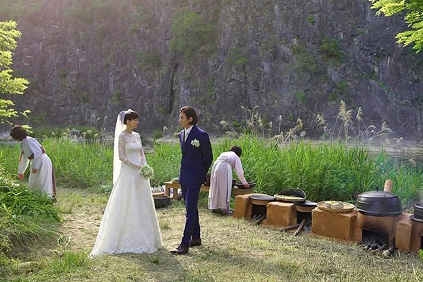 Korean stars Won Bin and Lee Na Young were married in a small ceremony with just family and friends in attendance, in a meadow in Jeongseon in Gangwon Province, on May 30, 2015. -- PHOTO: EDEN9 ENTERTAINMENT / FACEBOOK