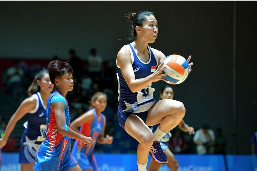 Singapore notched their second win of the SEA Games netball competition with a 65-24 win over Thailand at the OCBC Arena on June 1, 2015. -- PHOTO: KUA CHEE SIONG