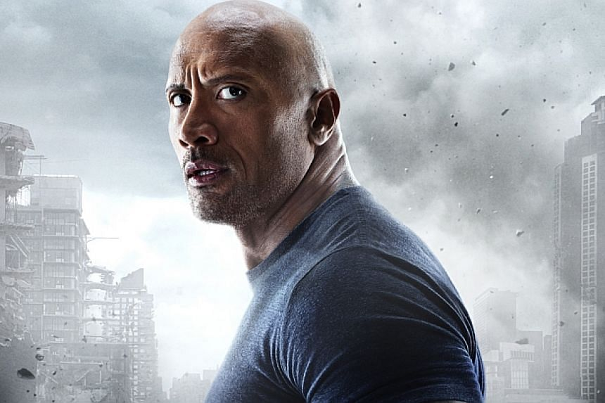 Dwayne Johnson, better know as The Rock, stars in San Andreas. -- PHOTO: GOLDEN VILLAGE PICTURES
