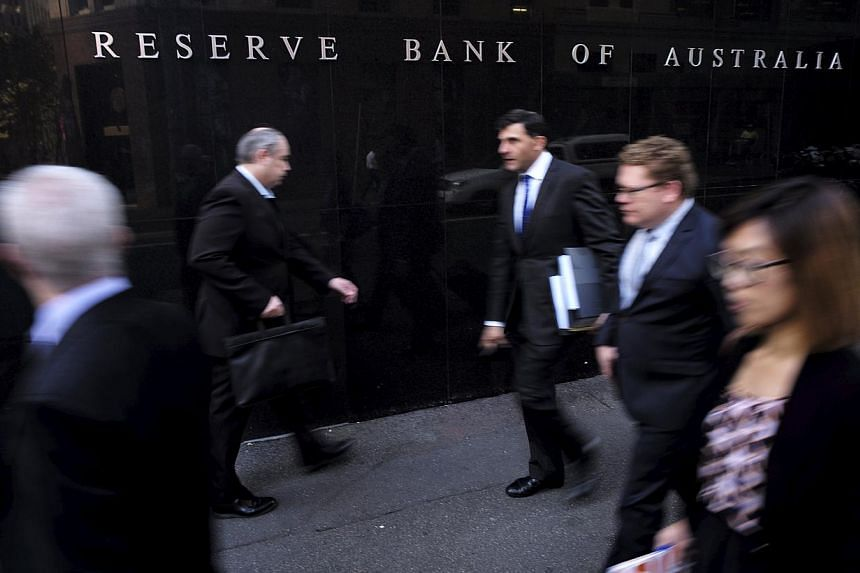Australia's central bank left interest rates steady on Tuesday a month after cutting them to all-time lows, saying policy needed to be stimulative given sub-standard economic growth, a high currency and tame inflation. -- PHOTO: REUTERS