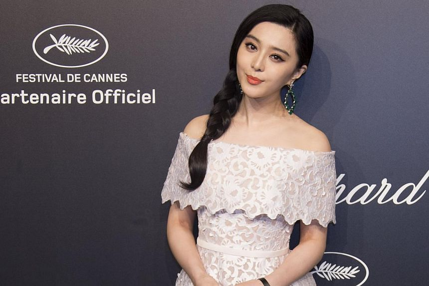 Fan Bingbing before the Chopard Gold Party at the 68th Cannes Film Festival on May 18, 2015. After months of rumours, Fan and her The Empress Of China co-star Li Chen confirmed their romance last Friday. -- PHOTO: REUTERS
