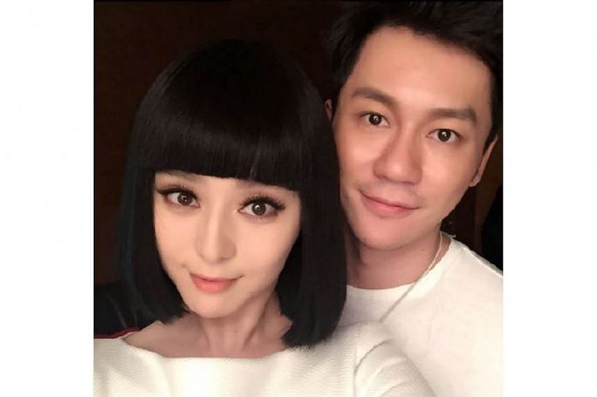 """Fan Bingbing and her boyfriend, Empress Of China co-star Li Chen. Li has spoken up for Fan, saying he had to """"protect her"""" from allegations that she stole him from his former girlfriend. -- FAN BINGBING'S WEIBO"""