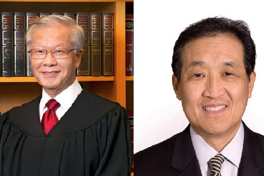 The National University of Singapore (NUS) announced the appointment of Mr Chan Sek Keong (left) and Mr Stephen Lee Ching Yen as pro-chancellors on Tuesday, June 2, 2015. -- PHOTOS: NUS, COURTESY OF MR STEPHEN LEE