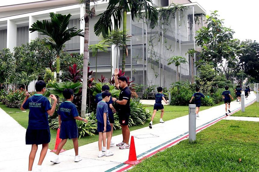 Students at Pathlight School's campus in Ang Mo Kio. Public special education school (Sped) students will soon have more guidance in sexuality education and relationships. The Ministry of Education has awarded a tender to develop a guide to help Sp