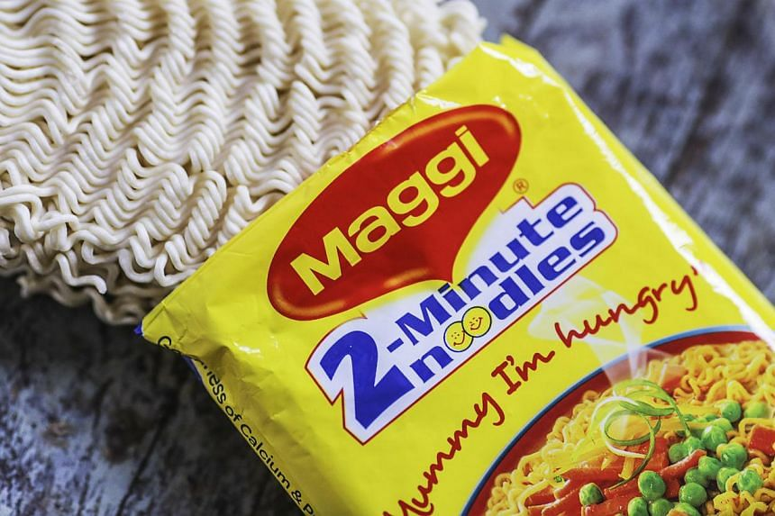 India on Wednesday tested packets nationwide of Nestle India's instant noodles after high lead levels were found in batches in the country's north amid a mounting food-safety scare, an official said. -- PHOTO: BLOOMBERG