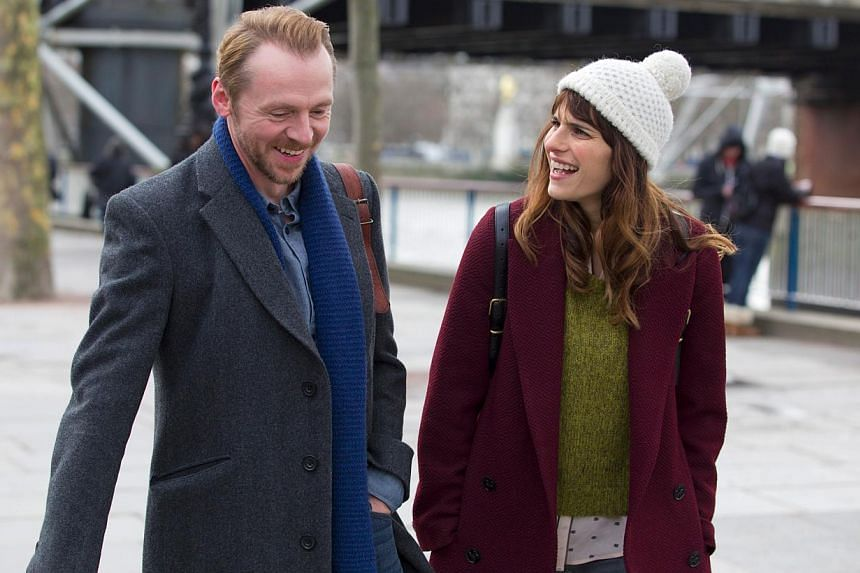 Simon Pegg as the not-so-handsome but likable divorced guy and Lake Bell is his endearing but gawky blind date in Man Up. -- PHOTO: SHAW ORGANISATION