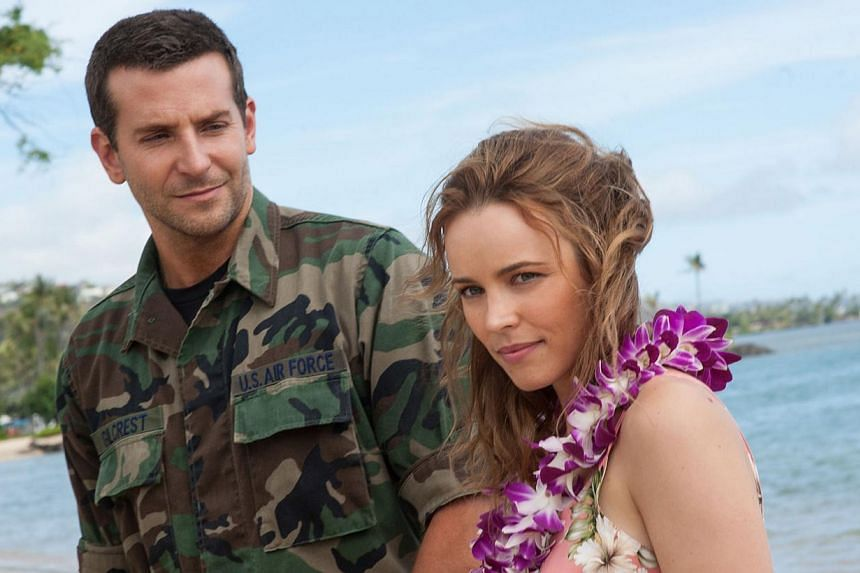 Feelings between two ex-lovers, played by Bradley Cooper and Rachel McAdams, are rekindled when they meet in Hawaii.