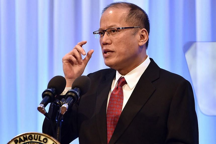 Philippine President Benigno Aquino made a veiled comparison on Wednesday between China's activities in the South China Sea and Nazi Germany's expansionism before World War Two, echoing similar remarks he made last year that outraged Beijing. -- PHOT
