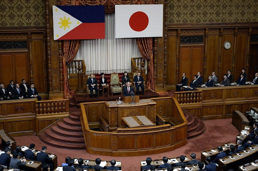 Philippines President Benigno Aquino says on Wednesday the dispute in the South China Sea cannot be settled through military force or coercion. -- PHOTO: EPA