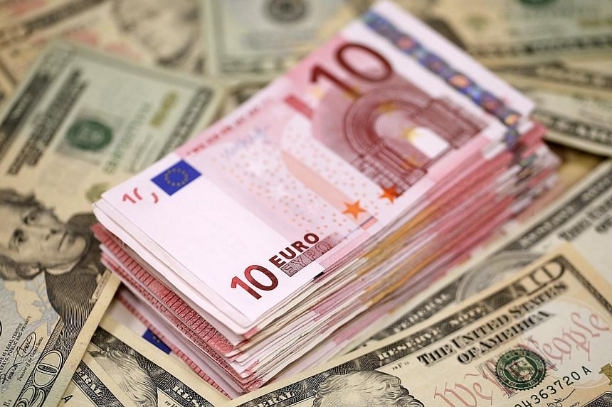 The U.S. dollar was broadly lower on Wednesday as hopes for progress in Greek debt talks and a huge spike in European yields combined to give the euro its biggest gain in three months. -- PHOTO: BLOOMBERG