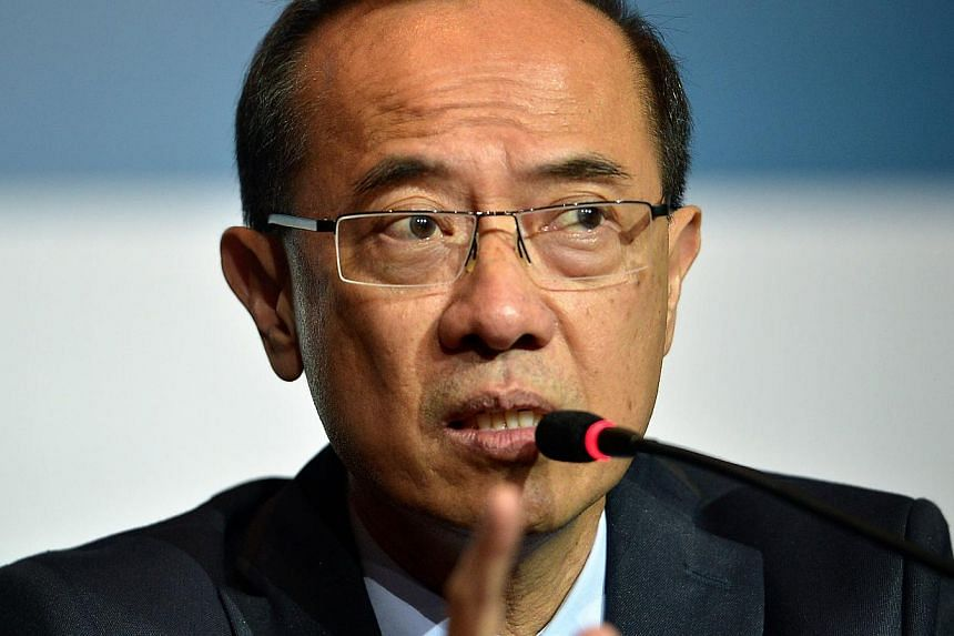 Mr George Yeo urged Asean members to realise the potential for unprecedented prosperity, rather than be fixated on their overlapping claims in the South China Sea. -- ST PHOTO: KUA CHEE SIONG