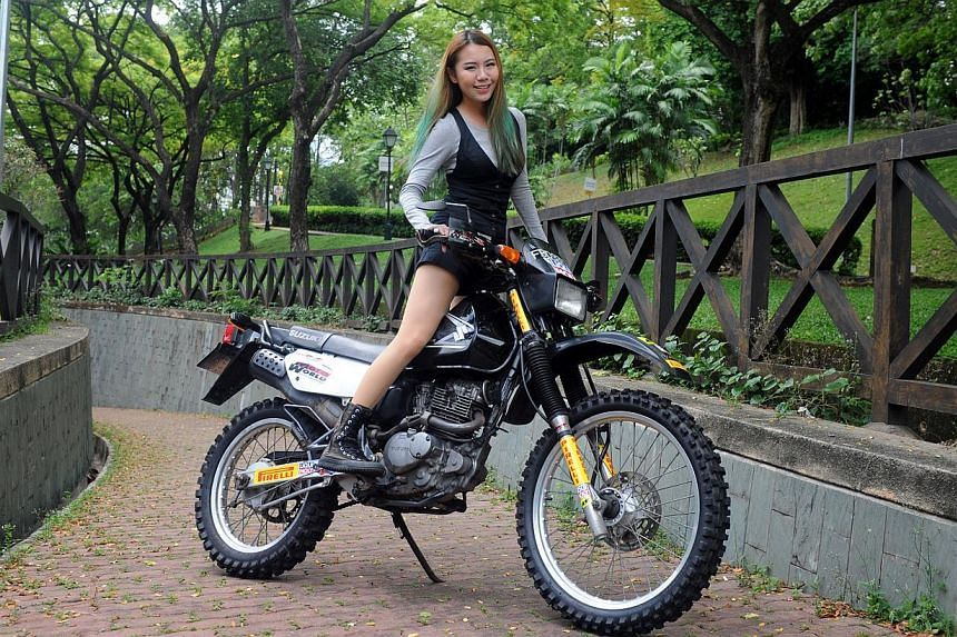 Real estate agent Vaune Phan, 27, is riding her Scrambler from Singapore to the Mount Everest base camp in Tibet. The month-long, 8,000km journey, which started yesterday, will help raise awareness and funds for the Singapore Disability Sports Counci