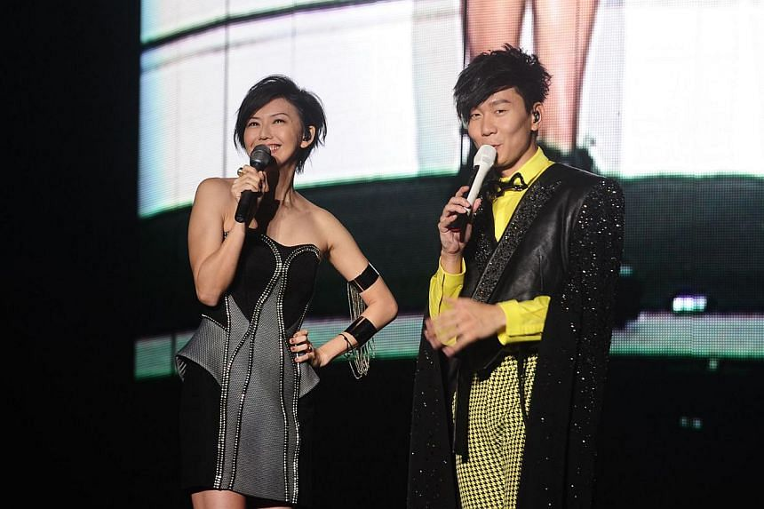 The upcoming Sing50 concert on Aug 7 at the National Stadium will feature home-grown artists such as Stefanie Sun (left) and JJ Lin. -- PHOTO: UNUSUAL ENTERTAINMENT