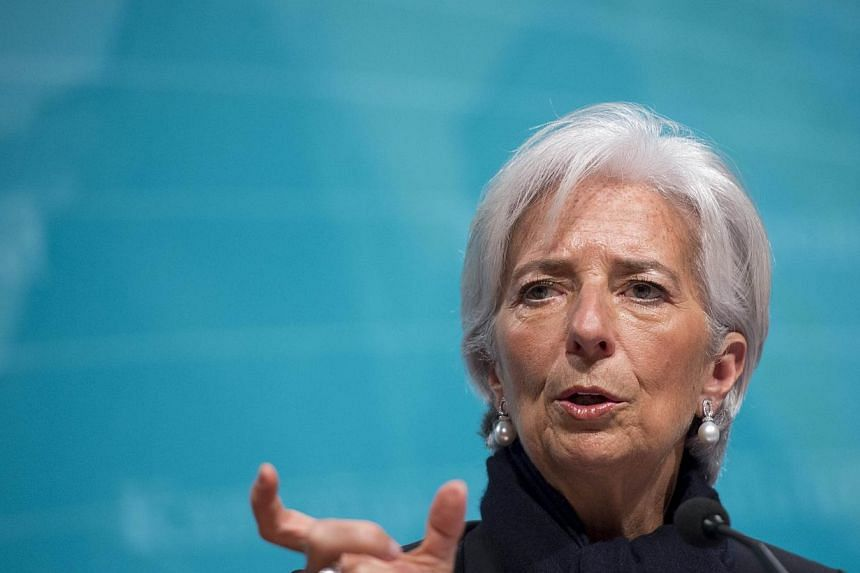 IMF Managing Director Christine Lagarde speaks about the state of the US, Greek and global economy during a press conference at IMF Headquarters in Washington, DC on June 4, 2015. -- PHOTO: AFP