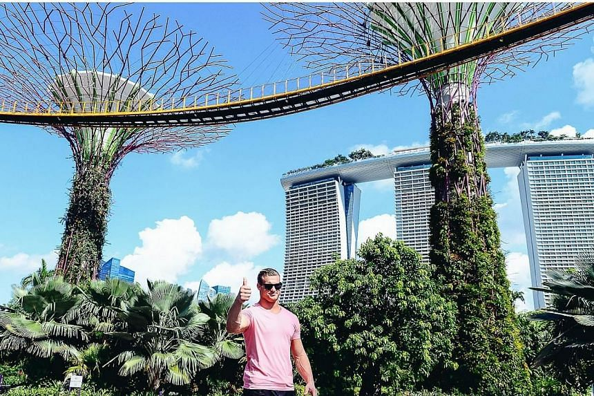 Only Supertrees will do for a WWE Superstar - Dolph Ziggler at Gardens By The Bay on May 29, 2015. -- PHOTO: WWE