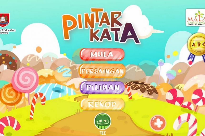 Screenshot from mobile game app Pintar Kata. The app is created by the Malay Language Centre of Singapore (MLCS), and launched by Education Minister Heng Swee Keat at the annual Malay Language Seminar on June 4, 2015. -- SCREENSHOT: PINTAR KATA